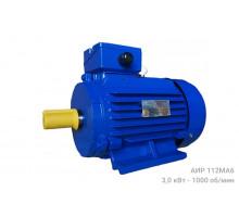 Электродвигатель АИР 112МА6 - 3/1000   АИР 112 МА6