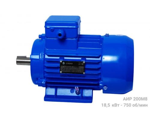 Электродвигатель трехфазный АИР 200М8 - 18,5/750 | АИР 200 М8