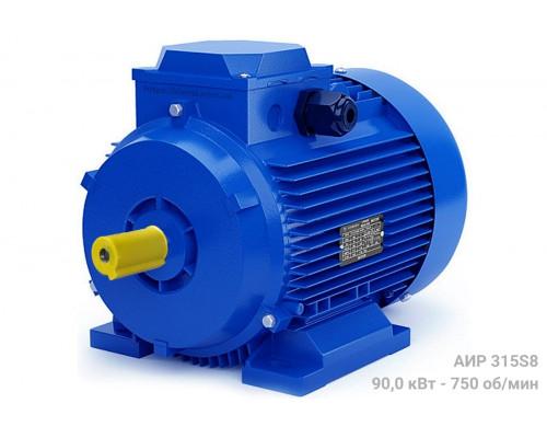 Электродвигатель трехфазный АИР315S8 - 90/750 | АИР 315 S8
