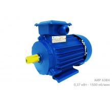 Электродвигатель АИР 63В4 - 0,37/1500 - Двигатель АИР63В4