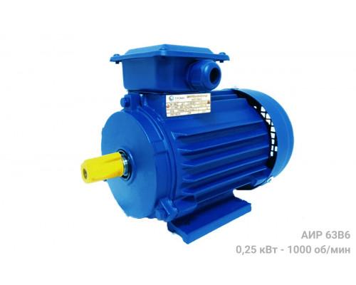 Электродвигатель АИР 63В6 - 0,25/1000 | АИР 63 В6