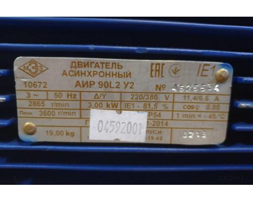 Шильдик белорусского электродвигателя АИР 90 l2 Могилев