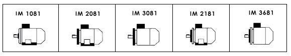 Двигатели АИР монтажное исполнение чертеж