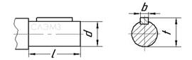 Чертеж цилиндрического вала мотор-редуктора 3МП, 4МП, 6МП