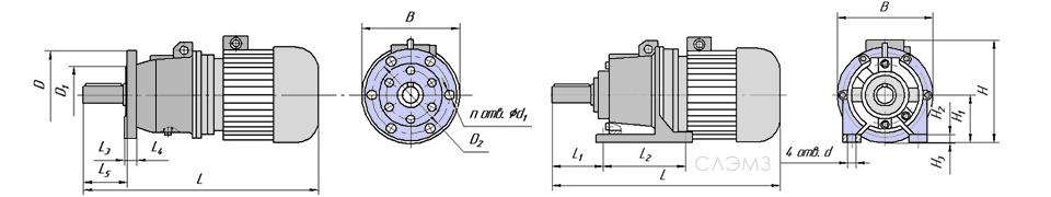 Схема мотор-редуктора 3МП, 4МП, 6МП
