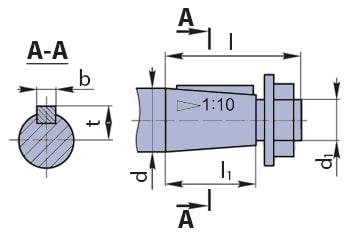Конический вал мотор-редуктора 3МП