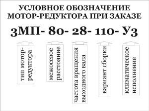 расшифровка планетарного мотор-редуктора 3МП-80-28-110-У3
