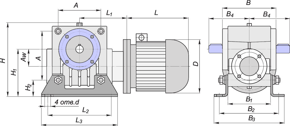 Схема мотор-редуктора МЧ