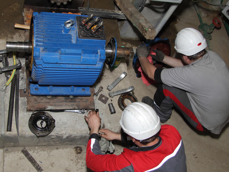 Разборка асинхронного электродвигателя для капитального ремонта