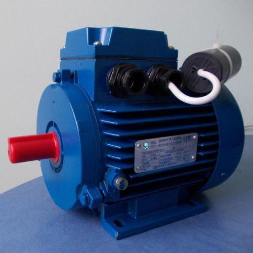 Однофазный двигатель АИРЕ80А4 220 Вольт с конденсаторами