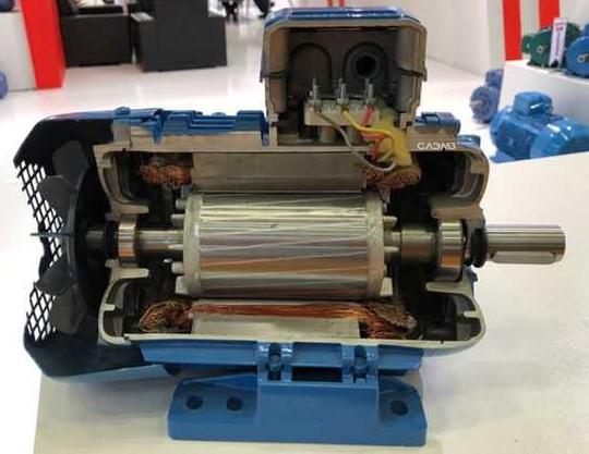 Устройство асинхронного трехфазного электродвигателя 4/1000 4А 4АМ 5АМ АИРМ 4АМУ АО АИС