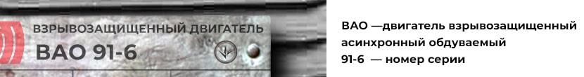 расшифровка маркировки двигателя ВАО 91-6