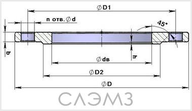 фланец Ду-40 стальной плоский