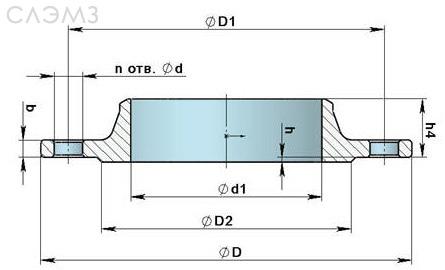 Воротниковый фланец ду-40 приварной встык