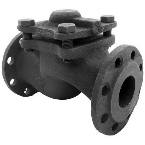 Чугунный обратный клапан Ду-150 фланцевый подъемный
