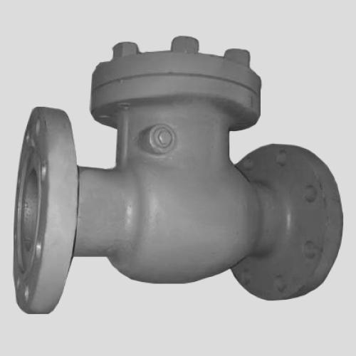 Обратный клапан Ду 50 Ру 40 из стали для воды к задвижкам