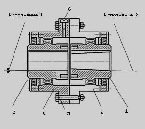 Конструкция зубчатой муфты МЗ чертеж