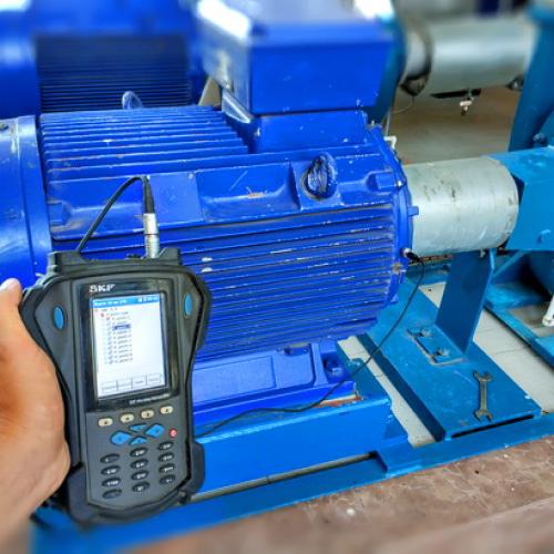 Измерение вибрации электродвигателей относительно норм