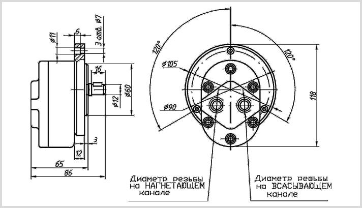 устройство насосного агрегата ДБГ11-1