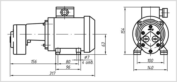 Схема шестеренного насоса БГ11-1