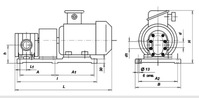 Шестеренный агрегат БГ11 второй группы