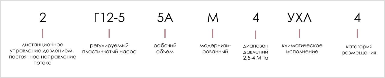 расшифровка маркировки пластинчатого регулируемого насоса 2Г12-55АМ-4