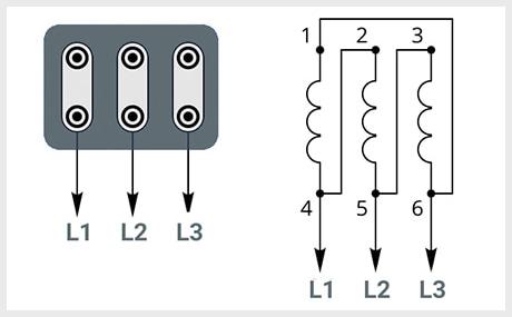 Схема подключения треугольник - 220В