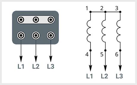 Схема подключения к сети звезда - 380В