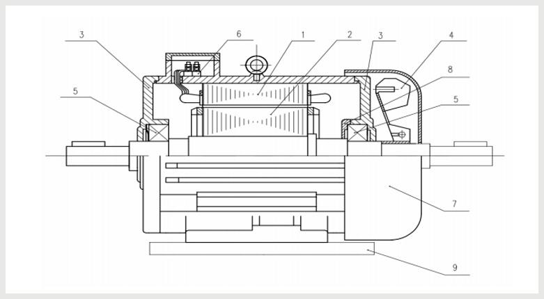Устройство кранового эл двигателя МТКН