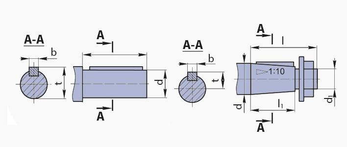Цилиндрический вал мотор мотор редуктора 3МП