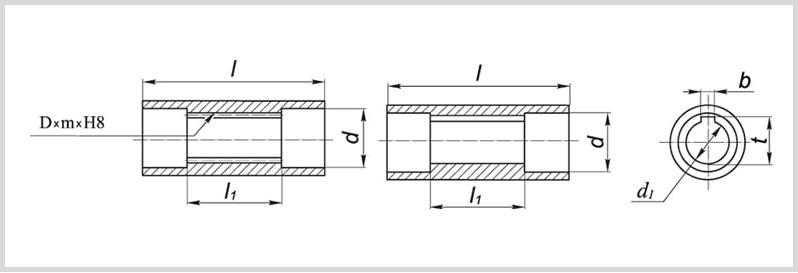 Диаметр и размеры полых валов чертеж