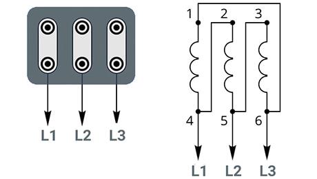 Схема подключения к трехфазной сети 220В - треугольник