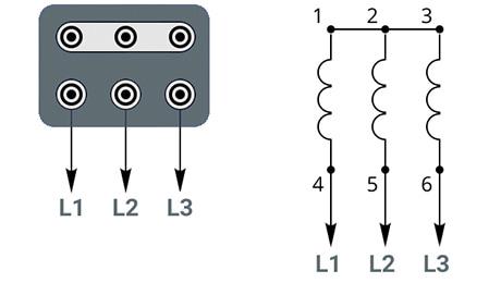 Схема подключения к трехфазной сети 380В - звезда
