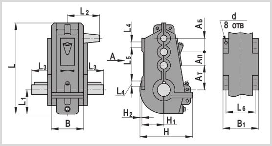 чертеж и размер кранового редуктора вку-500