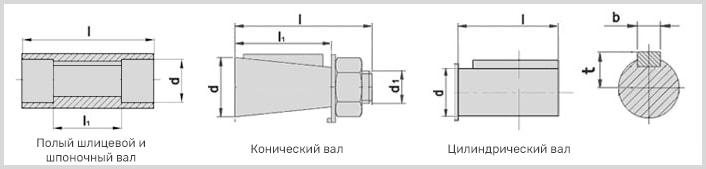 размеры полых валов редуктора 2ч-40