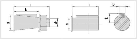 коническое и цилиндрическое исполнение редуктора ц3у-315. входной и выходной. быстроходный, тихоходный вал