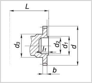 вал редуктора 1ц2н-500 в виде зубчатой муфты